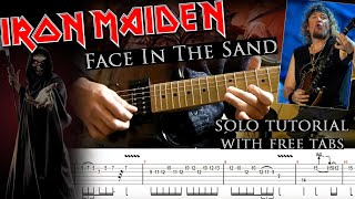 How to play Adrian Smith's solos #39 Face In The Sand (with tablatures and backing tracks)