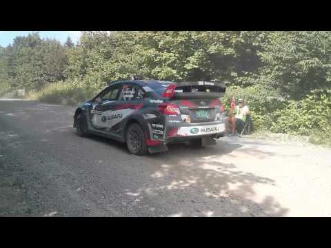 Travis Pastrana New England Forest Rally 2017 Start Stage 11 Aziscohos