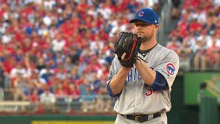 CHC@WSH Gm2: Lester tosses six frames of one-run ball