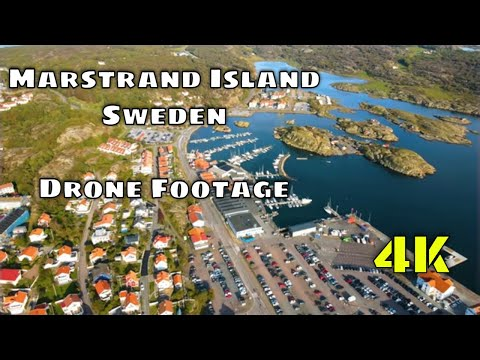Flying over Marstrand - Sweden (4K Drone Footage)