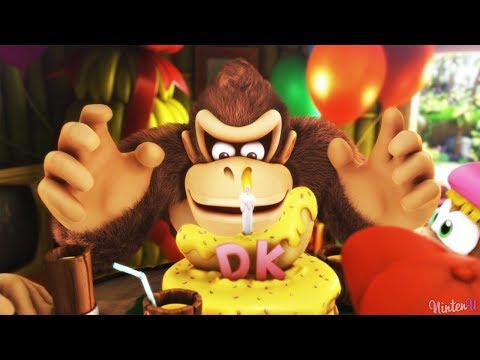 Donkey Kong Country Tropical Freeze - Walkthrough Part 1 - World 1