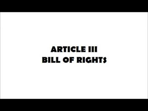 The 1987 Philippine Constitution: Article III - Bill of Rights
