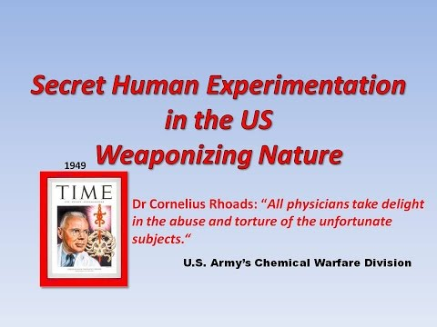 Human Experimentation in the US Part1