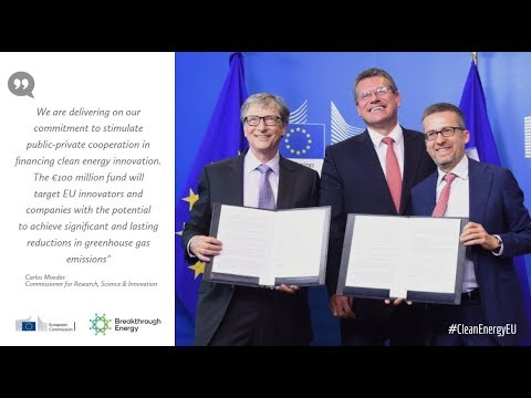 Commission and Bill Gates to launch €100 million clean energy fund