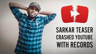 Sarkar Teaser Crashed YouTube - A Historical Record By Sarkar Teaser | A Proud Moment For Vijay Fans