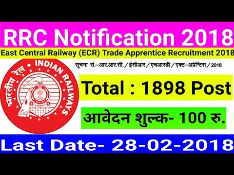 RRC Patna Apprentice Recruitment Online Form 2018