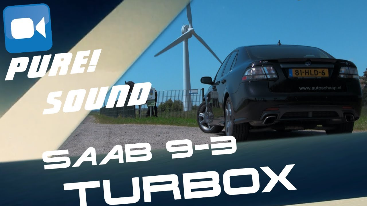 Saab 9-3 2 8 V6 TurboX PURE! Acceleration Sound