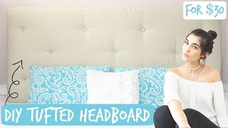 DIY: Tufted Headboard For Your Bed   Under $35