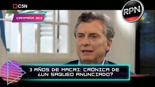 ¡Imperdible! #SDTV destroza al Presidente, 3 años de Macri: ¿Crónica de un saqueo anunciado?