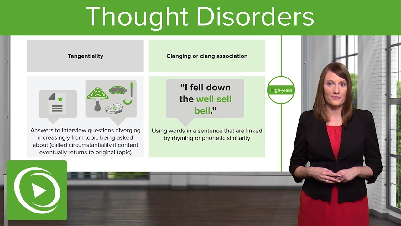Thought Disorders: Different Types & Diagnoses  – Psychiatry | Lecturio