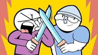 Моё первое знакомство с мечами!
