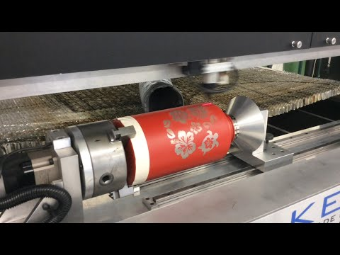 Plywood laser cutting and water bottle engraving