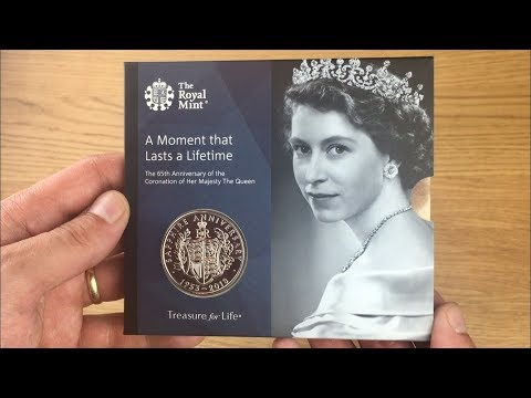 65th ANNIVERSARY CORONATION £5 COIN || ROYAL MINT