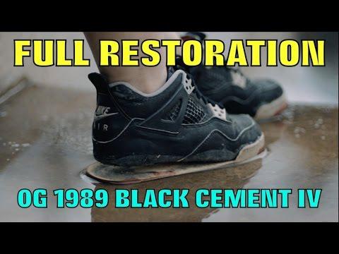 3f002431d841d 1989 OG BLACK CEMENT IV FULL RESTORATION!! (MUST WATCH) - YouTube