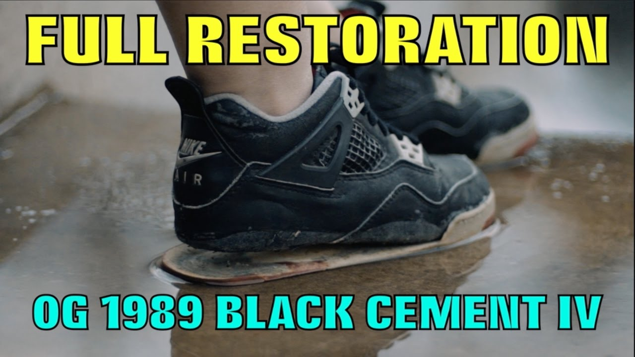 0690a516d4a160 1989 OG BLACK CEMENT IV FULL RESTORATION!! (MUST WATCH) - YouTube