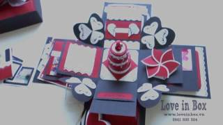 Special Love box - Exploding box - Handmade box - Love in Box - tự làm love box