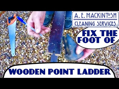 How To Fix The Foot On A Wooden Point Ladder