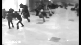 فيديو ... لحظة وقوع تفجير مطار بروكسل