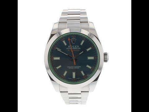 Pre Owned Watch Rolex Milgauss Ref 116400 GV