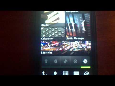 ZTE Blade (Android 2.1 Éclair, Laucher Pro Plus, Desktop Visualizer)