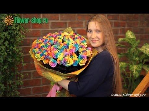 """Букет """"Радужные розы"""" от Flower-shop.ru"""