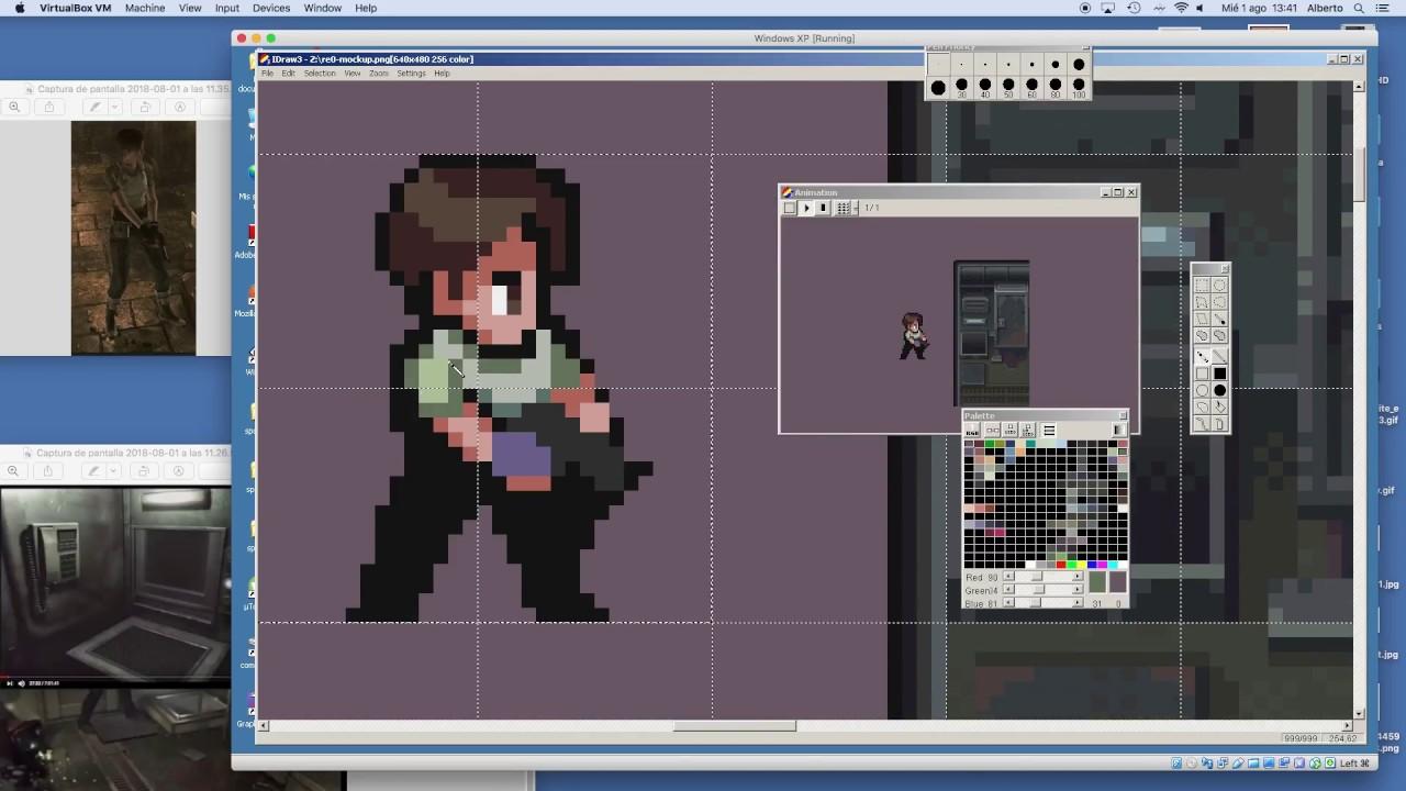 PIXEL ART TIMELAPSE - Resident Evil 0