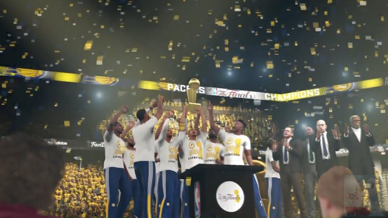 NBA 2K16 - Indiana Pacers Championship Celebration - YouTube
