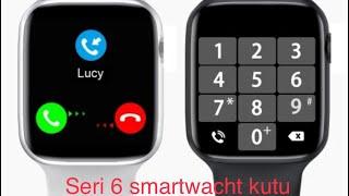 Seri 6 smartwacht Lemfo akilli saat kutu acilisi ve ön bakis(sahte appel wacht)