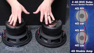 How to Wire Two Dual 4 ohm Subwoofers to a 4 ohm Final Impedance | Car Audio 101