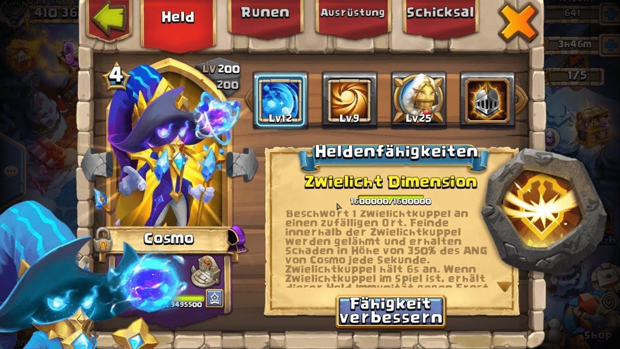 Cosmo 1212 99 Heiliges Licht, 88 Überleben Wappen | Castle Clash | Schloss Konflikt