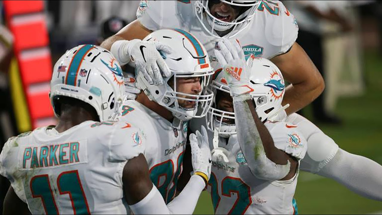 Dolphins tight end Mike Gesicki happy with TD and first win over the Jags