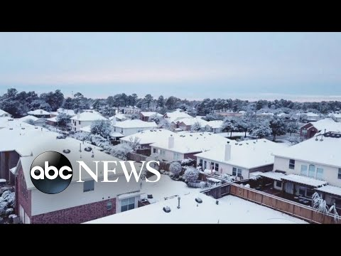 Download Youtube: First major snowfall blankets 20 states from Texas to New England