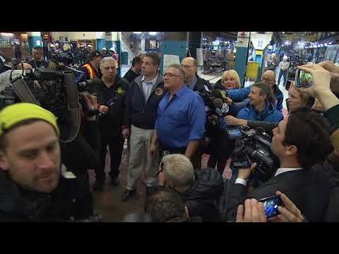 Governor Andrew M. Cuomo toures MTA New York City Transit's Car Overhaul Shop B ROLL