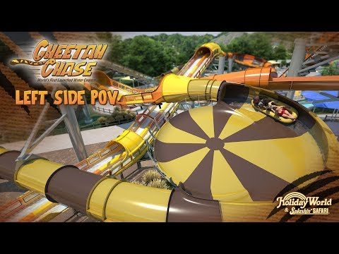 Cheetah Chase Left Side POV | Holiday World & Splashin' Safari