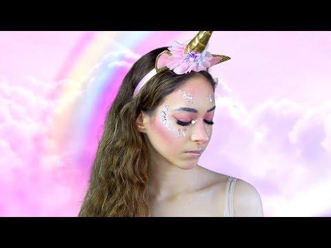 Easy Last Minute Unicorn Halloween Makeup Tutorial - #sassoween