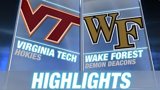 Virginia Tech vs Wake Forest | 2014 ACC Football Highlights