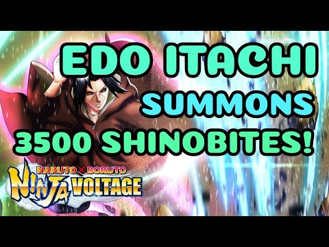 Edo Itachi Summons! 3500 Shinobites GONE | Naruto X Boruto Ninja Voltage | NxB NV