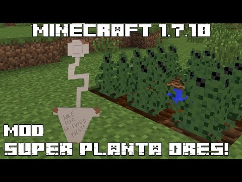 Minecraft 1.7.10 MOD SUPER PLANTA-ORES! OreCrops Mod Español!
