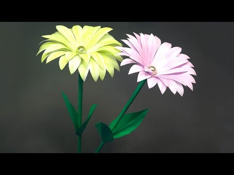 DIY Homemade: How to Make Paper Stick Flower Tutorial for Decoration || Abigail Paper Crafts