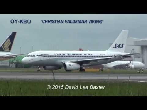 SAS Retro-Jet A319 Flight Departure from Heathrow Airport