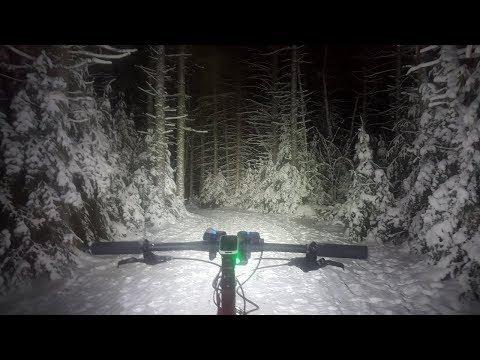 Night Crawler Fat Bike Ride Part 1. Surly Moonlander.