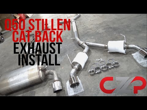 Infiniti Q50 VR30 Stillen Cat Back Exhaust Install / Sound / Dyno