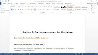 How to create a Table of Contents and Headings in Word 2013