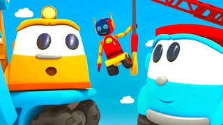 Car cartoon episodes in English - Leo the truck & New attractions for robots.