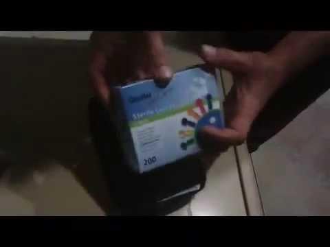 Глюкометр FreeStyle Freedom Lite . Измерение уровня сахара в крови