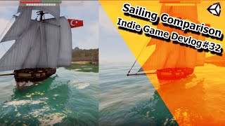Indie Game Devlog #32 - Sailing Physics Comparison - Conqueror of the Seas