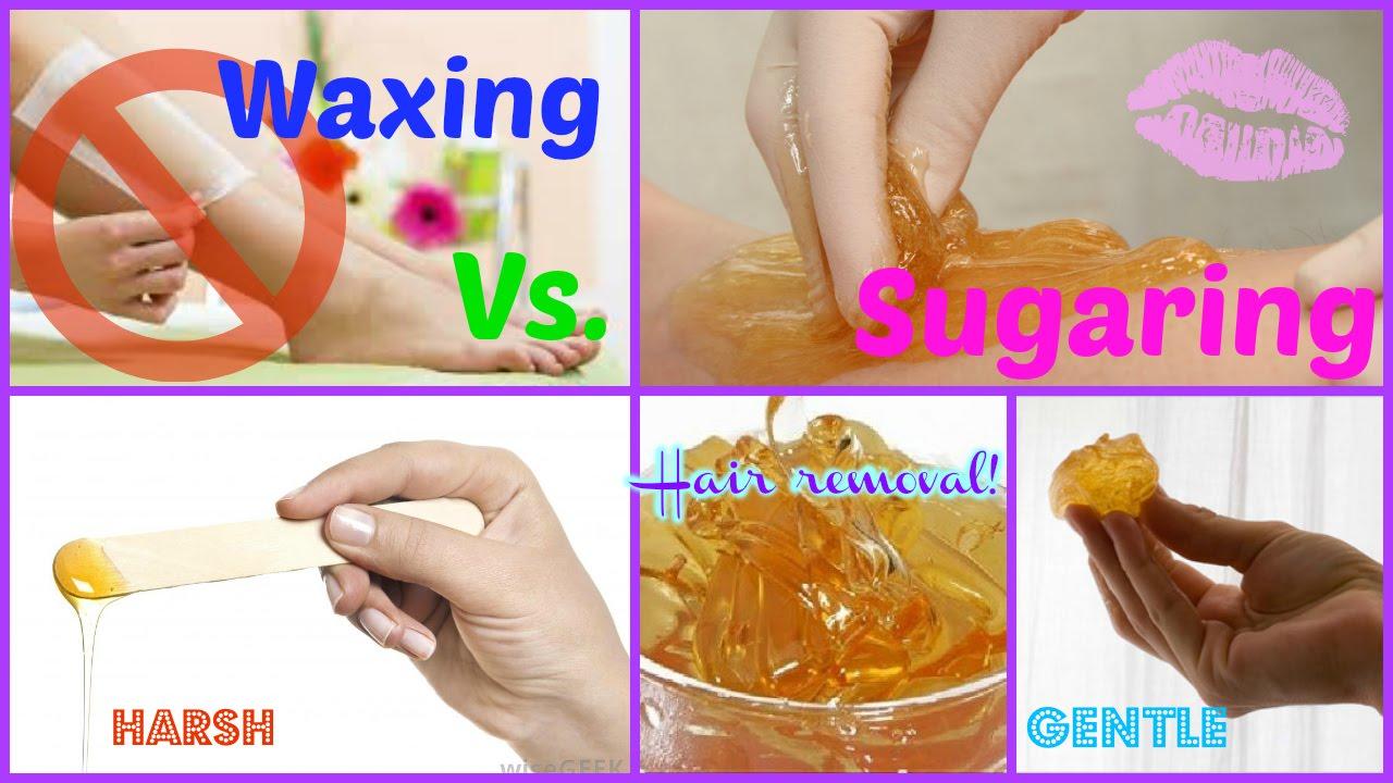 Sugaring Vs  Waxing  Hair Removal
