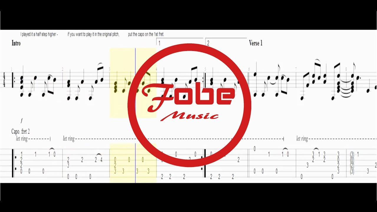 All My Loving - The Beatles / Guitar Acoustic Fingerstyle Tab + PDF