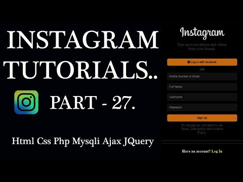 Instagram Tutorial Part-27: Home Page Post Design Html Css for android mobile, tablet and web. thumbnail