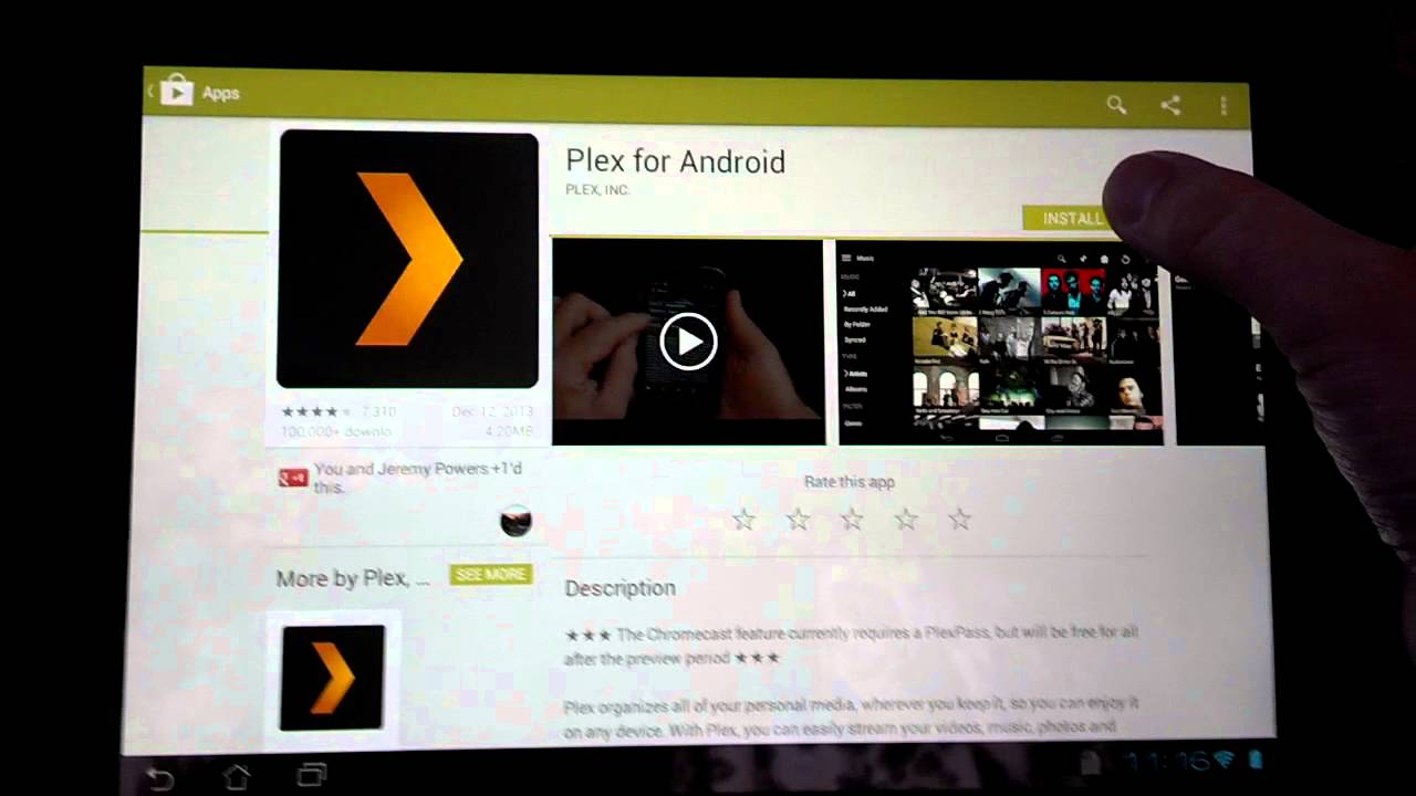 how to get to the music channels on tablet